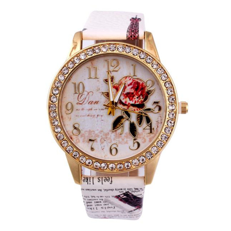 Luxury Fashion Bracelet Crystal Wristwatches Wrist Watches For Women Band Analog Quartz Business Wrist Watch Relogio Feminino - Bara Jan Store