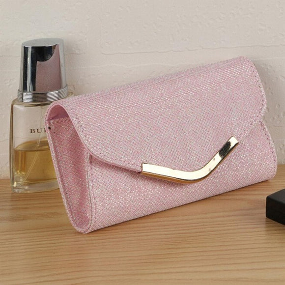 Upscale Evening Party Small Clutch Bag Banquet Purse Free Gift
