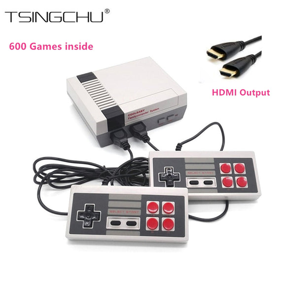 HDMI Output Retro Family Mini TV Video Game Console Built-in 600 Different Classic NES Games Mini TV Handheld Game Player HD Out