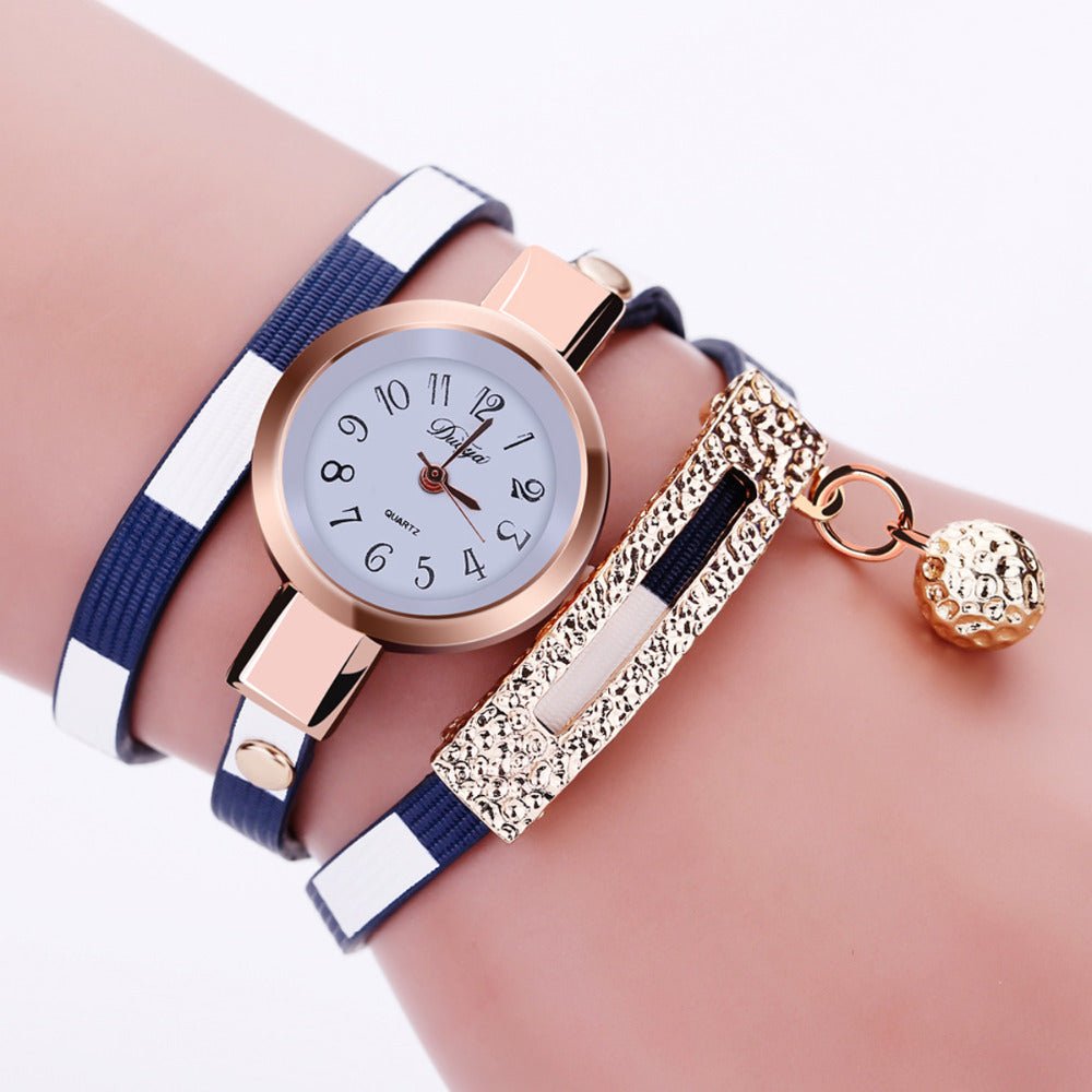 Women's Watches 2018 Fashion PU Leather Pendant Bracelet Ladies Watch for Women Female Clock Relogio Feminino Relojes Mujer - Bara Jan Store