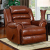 Triple Pub Back Leather Recliner
