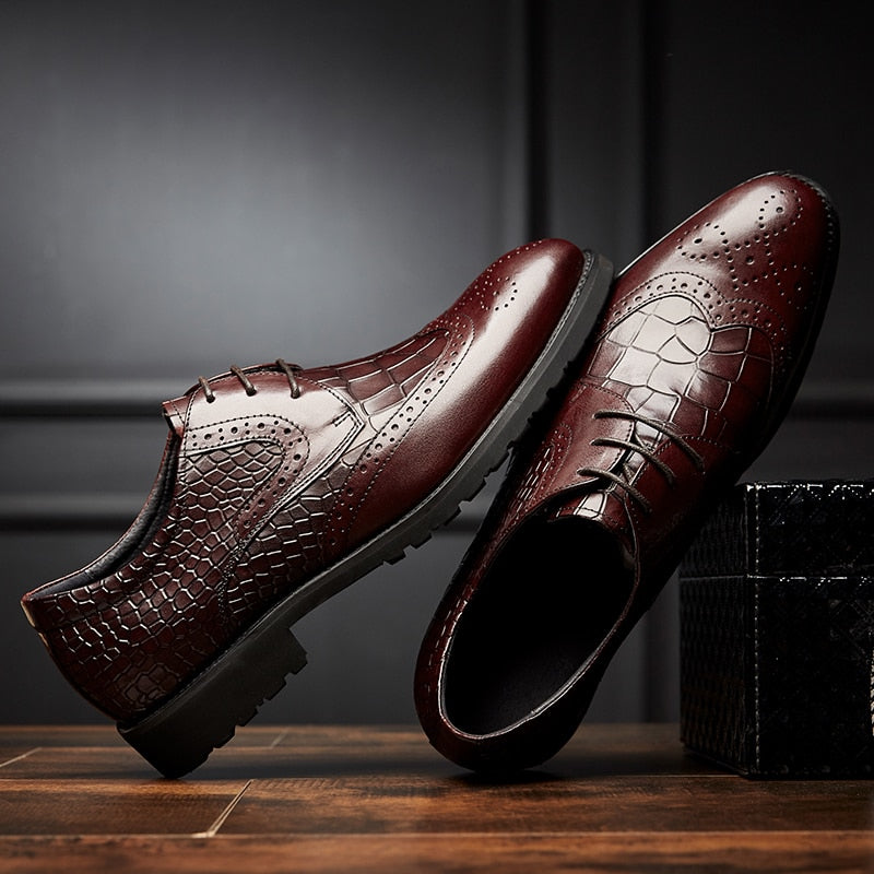 Brand Men Shoes Top Quality Oxfords Male Italian Genuine Leather Formal Shoes Men Flats Business Leather Casual Shoes