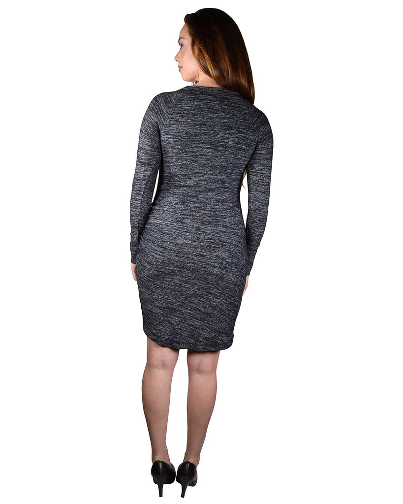 Full Sleeves Pencil Fit Bodycon Dress - Bara Jan Store