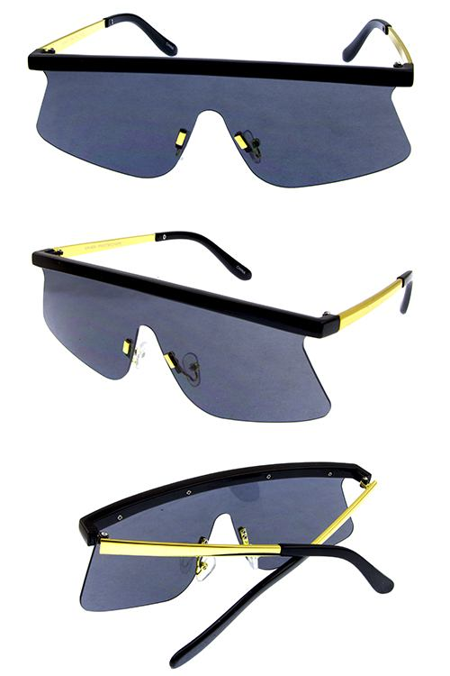 Womens blended rebar rimless sleek fashion sunglasses