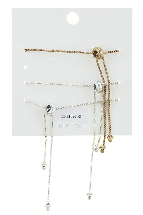 Yesterday today tomorrow bolo bracelet set - Bara Jan Store