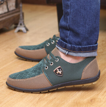 GOXPACER Autumn Men Shoes Men Flats Canvas Lacing Shoes Breathable Casual Shoes Single Flats Men Fashion Summer Style Wholesale