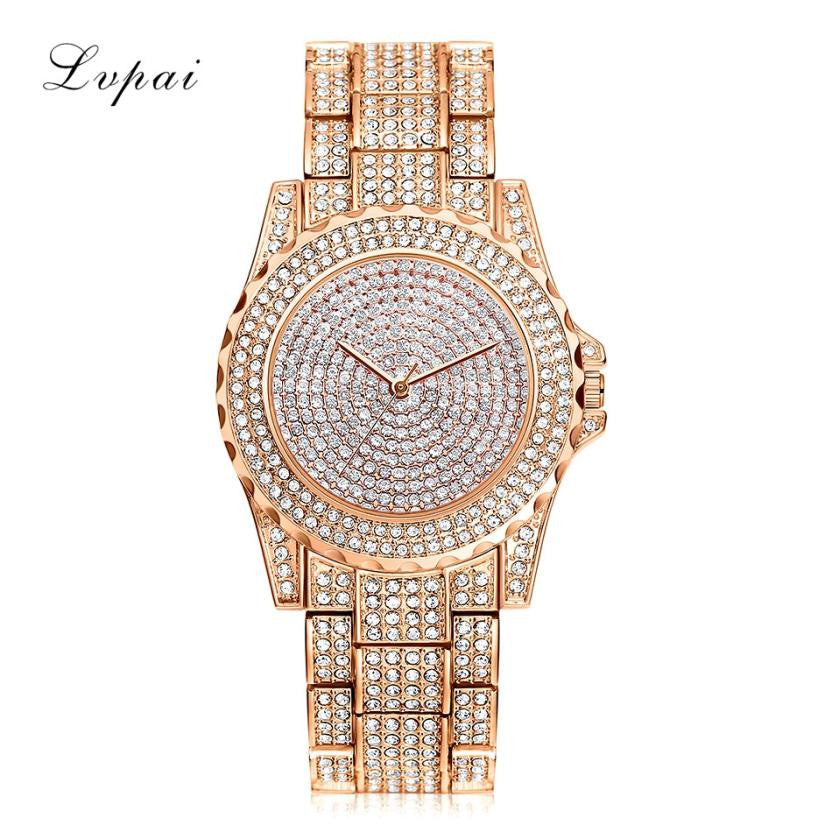 Bling watch women bracelet brand clock womens gold ladies watch with rhinestones high quality charm wristwatch gift - Bara Jan Store