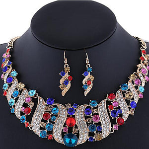Women's Jewelry Set Earrings Statement Necklace Luxury Wedding Party Special Occasion Synthetic Gemstones Rhinestone Imitation Diamond - Bara Jan Store