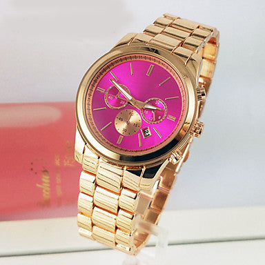 Women's Fashion Watch Quartz Calendar / date / day Alloy Band Luxury Gold - Bara Jan Store