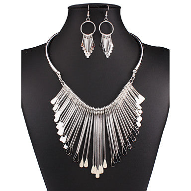 Women's Jewelry Set Drop Earrings Bib necklaces Statement Necklace Vintage Sexy Statement Jewelry Fashion European Wedding Party Daily - Bara Jan Store