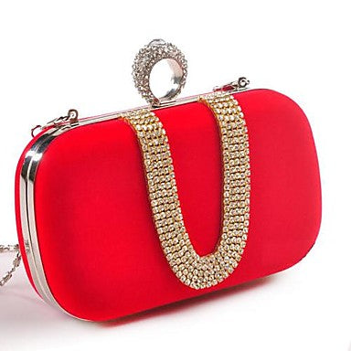 Women's Bags Polyester Evening Bag Crystal Detailing for Wedding All Seasons - Bara Jan Store
