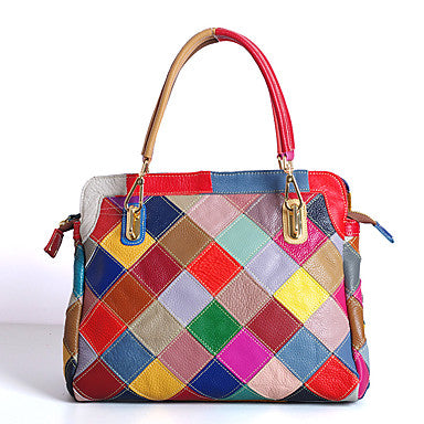 Women's Bags Cowhide Tote for Event/Party Casual Summer Rainbow - Bara Jan Store