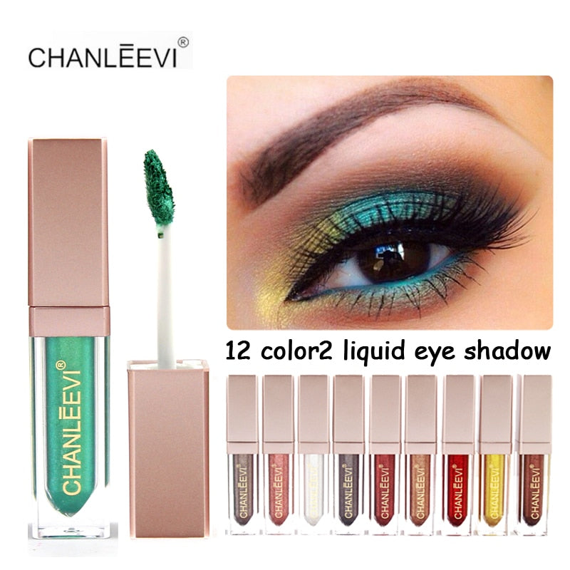 New Makeup Waterproof Liquid Eyeshadow Glitter White Gold Red Color Pigments Shimmer Eye Shadow Stick