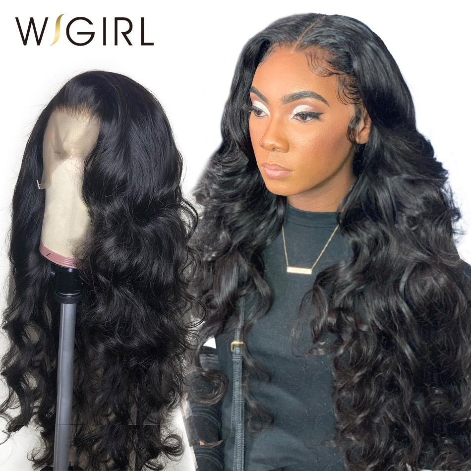 Wigirl 250 Density 13X6 Lace Front Human Hair Wigs 360 Lace Frontal Wig Pre Plucked With Baby Hair Body Wave