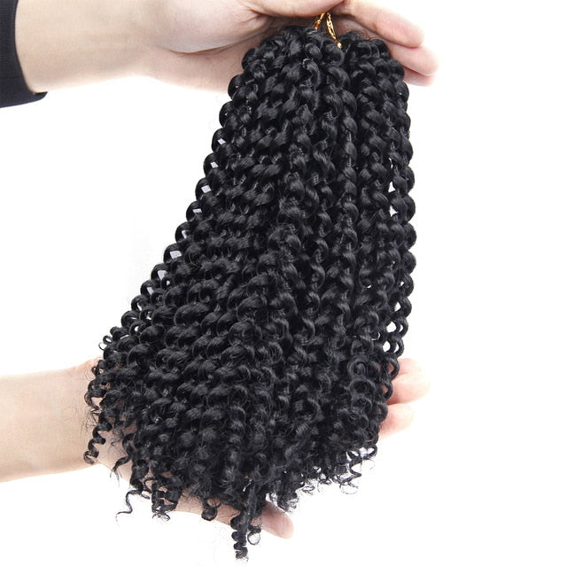 Twist Hair Crochet braids Synthetic Ombre Braiding Hair Extensions Brazilian Jerry Curly Bundles Kinky Curly Hair Bulk