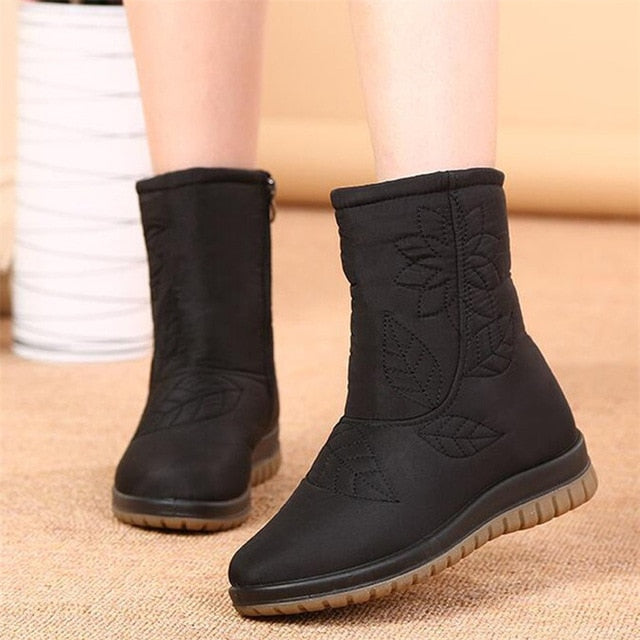 Women Boots Winter Shoes Women Plus Insole Snow Boots High Quality Fur Ankle Boots for Women Waterproof