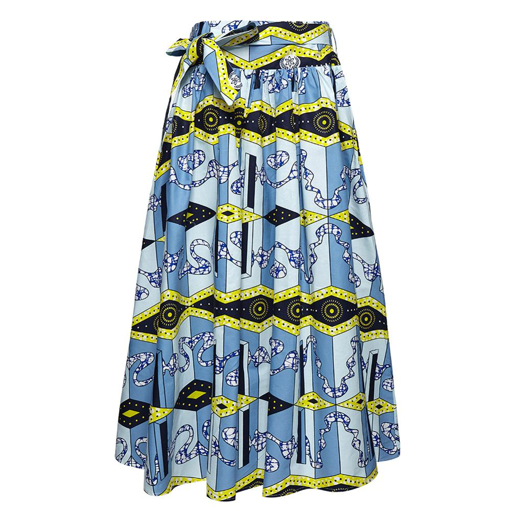 High Waist Maxi Skirts Elastic Beach Skirt Floral Print Floor Length Long