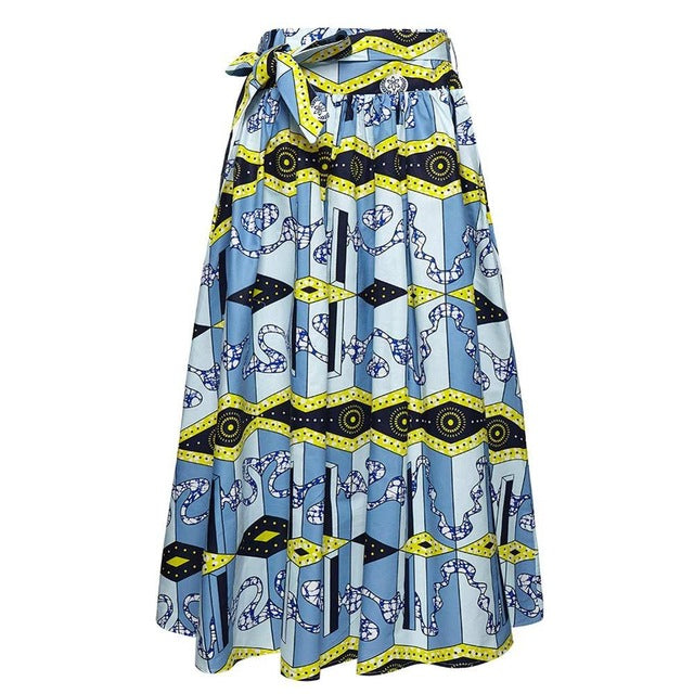 Colorful Women Summer Fashion Bandage Long Skirt  New Style