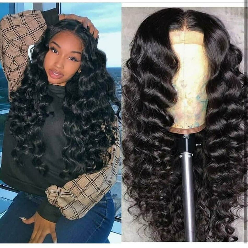 Loose Deep Wave Wig 100% Human Hair Lace Front Wigs Pre Plucked Frontal With Baby Hair Brazilian Wig Non Remy Moxie