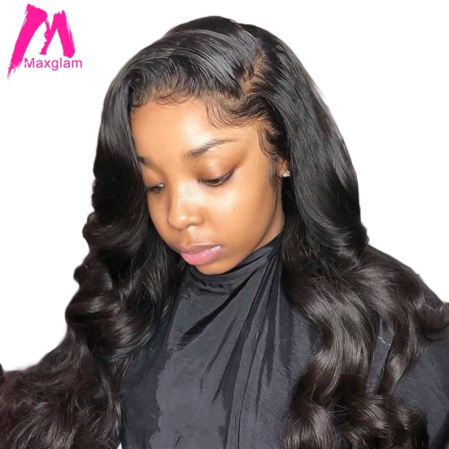 Loose wave lace front human hair wigs brazilian remyhair wig pre plucked with baby hair