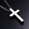 Vnox Classic Blank Cross Necklaces Prayer Christ Men Jewelry Stainless Steel Men Women