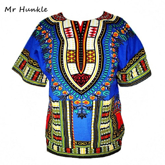 Dashiki New African Clothing Traditional Print Tops Fashion Design African Bazin Riche