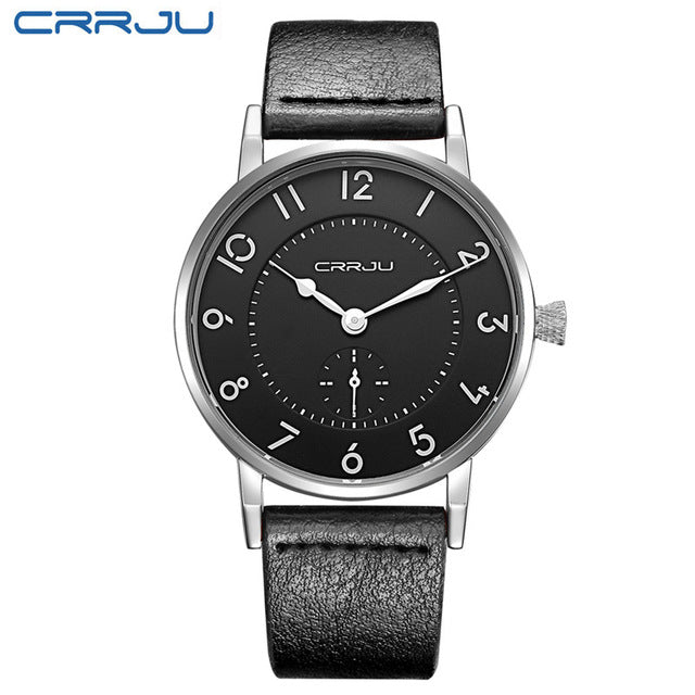 Men Ultra Thin Genuine Leather Clock Male Quartz Sport Watch Men Waterproof Casual Wristwatch relogio