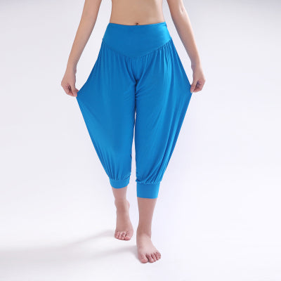100% Cotton Women's Stretch Comfy Workout  Pants Trousers Capris Womens Summer Short Harem Pants