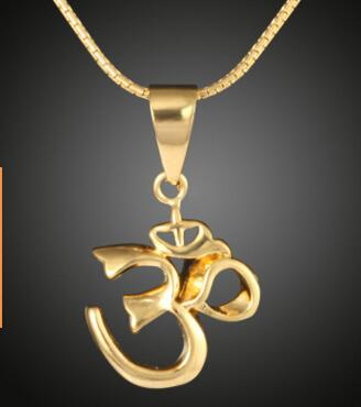 Fashion Muslims Allah OHM Hindu Buddhist AUM OM Pendant Arabic Islamic Yoga India Necklace Religious Symbols