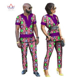 African Dresses for Women New Designs Couple Clothes for Lovers Dashiki Men Shirt Long Sleeve