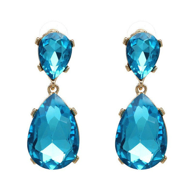 Pendant Long Rhinestone Crystal Fashion Women Party Dress Earring - Bara Jan Store