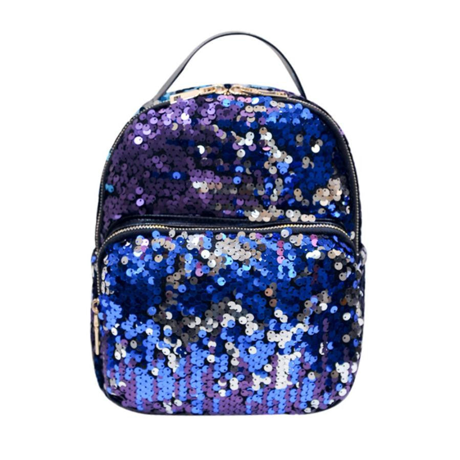 women's backpack School Bag Sequins Travel Bags - Bara Jan Store