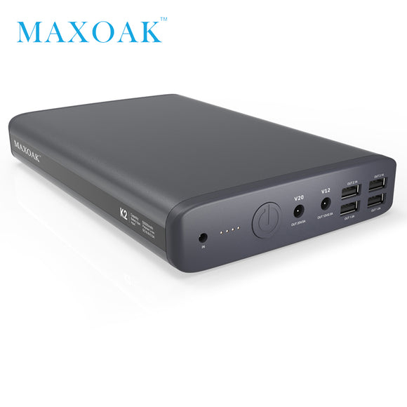 Power bank 50000mah 6 output port DC12V/2.5A DC20V/5A notebook power bank can charger laptop, tablet,mobile phone