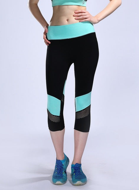Summer Women Sporting Leggings  Mesh Elastic Compression Sportswear