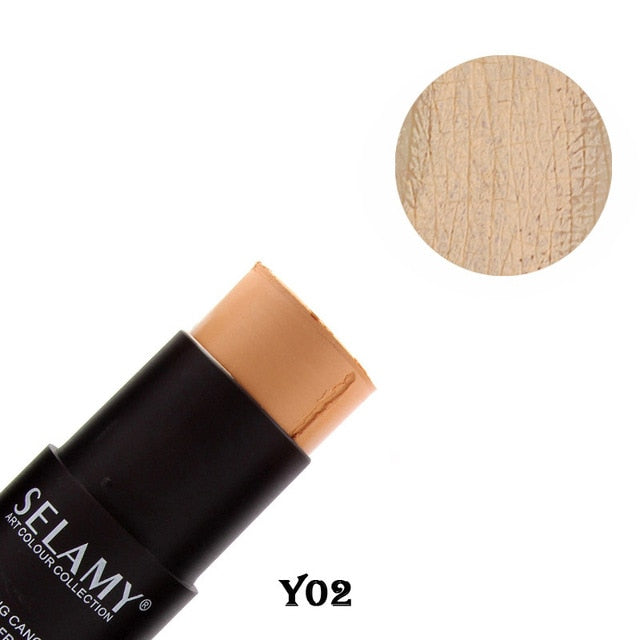 Selamy Brand Makeup Bronzer Face Concealer Stick for Light Dark Skin Long Lasting