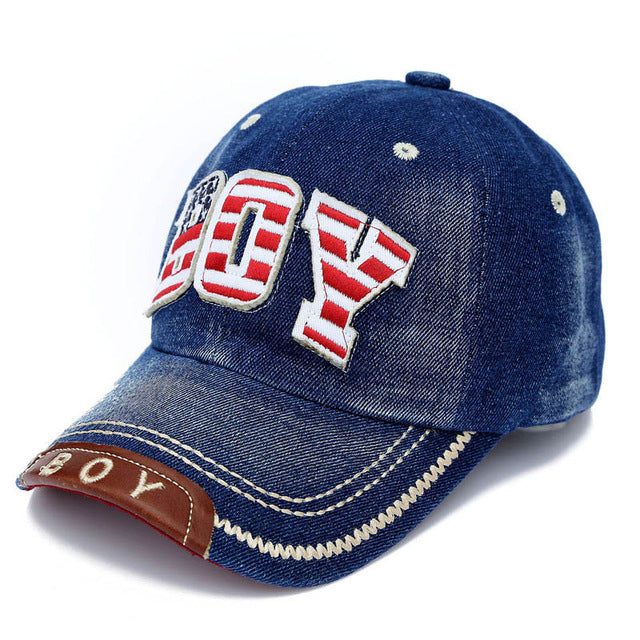 Kids Boys Baseball  Cap Summer Toddler  Children  Dad Hat Jean Casual Hip Hop Letter Denim Sun Snapback