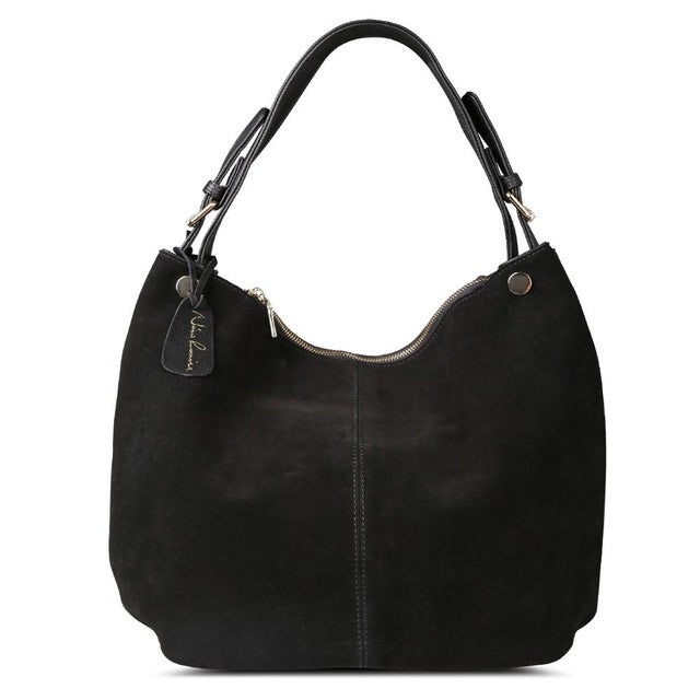 Nico Louise Women Real Split Suede Leather Hobo Bag New Design Shopping Casual Handbag