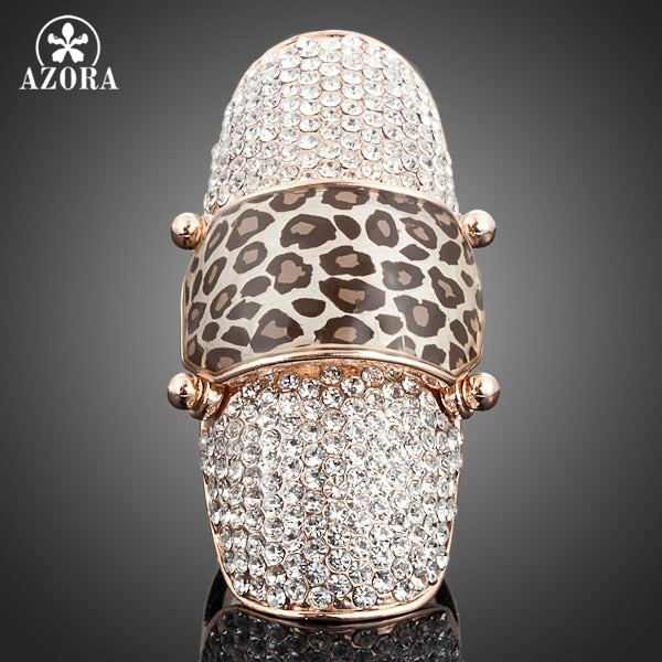 Nails Sequins Style Gold Color Stellux Austrian Crystal Elegant Lady's Ring