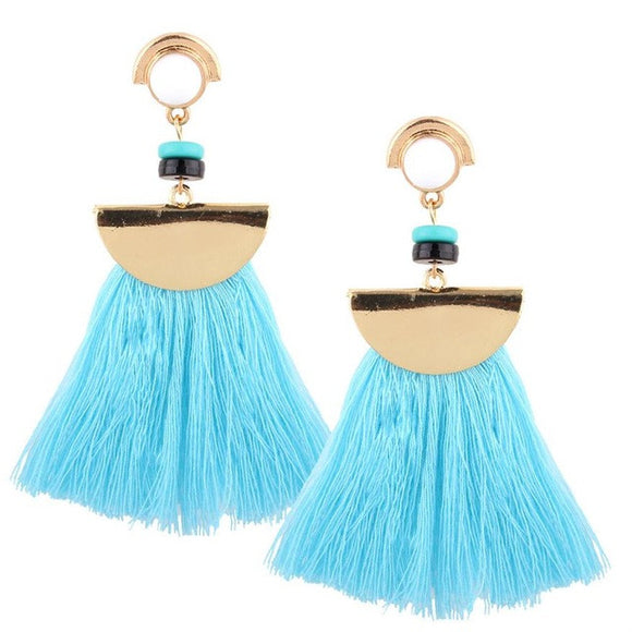 Scalloped fringe Earrings - Bara Jan Store