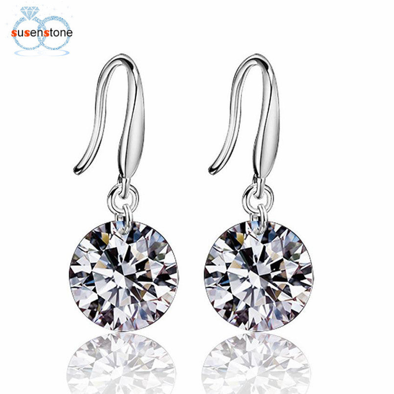 Elegant Fashion 925 Sterling Silver Women Crystal Rhinestone Earrings - Bara Jan Store