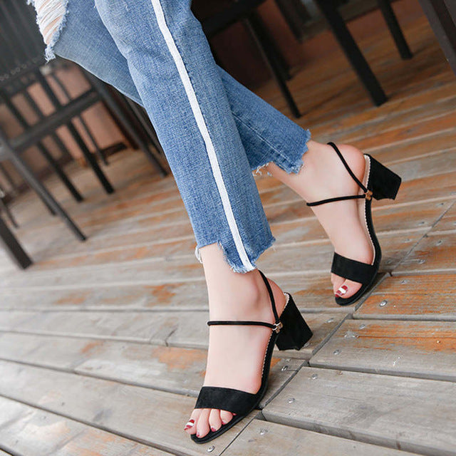 High Heels Shoes Women Fashion Shoes Sandals Pumps Summer Sexy Black Heels