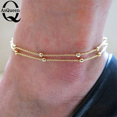 Fine Sexy Anklet Ankle Bracelet Cheville Barefoot Sandals Foot Jewelry Leg Chain