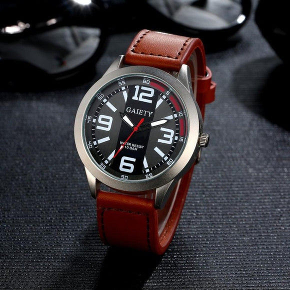 Mens watches Brand Luxury Business Watch Leather Quartz - Bara Jan Store