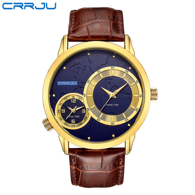 Men Watch Luxury Brand Fashion Male Wristwatch 30M Waterproof Sport Watch Casual Genuine Leather Quartz Business Watches