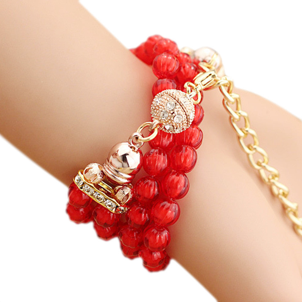 Personalized Flowers Pearl Wrapped Bracelet Watch - Bara Jan Store