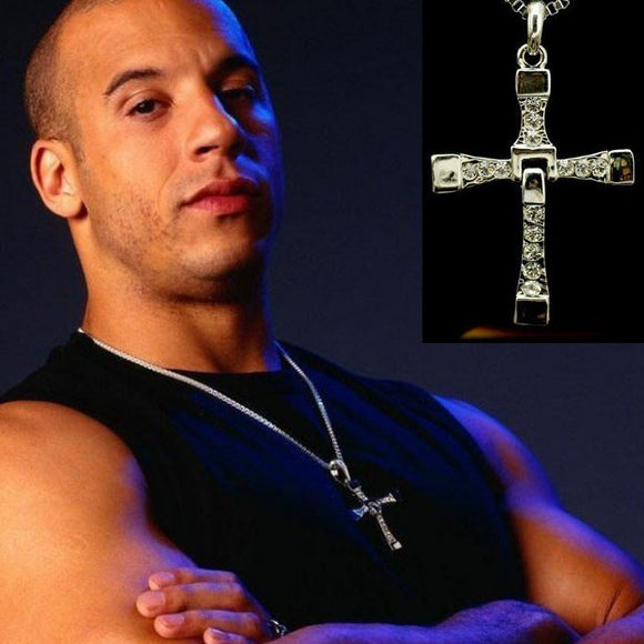 The Fast And The Furious Dominic Torettos Cross Pendant Chain Necklace