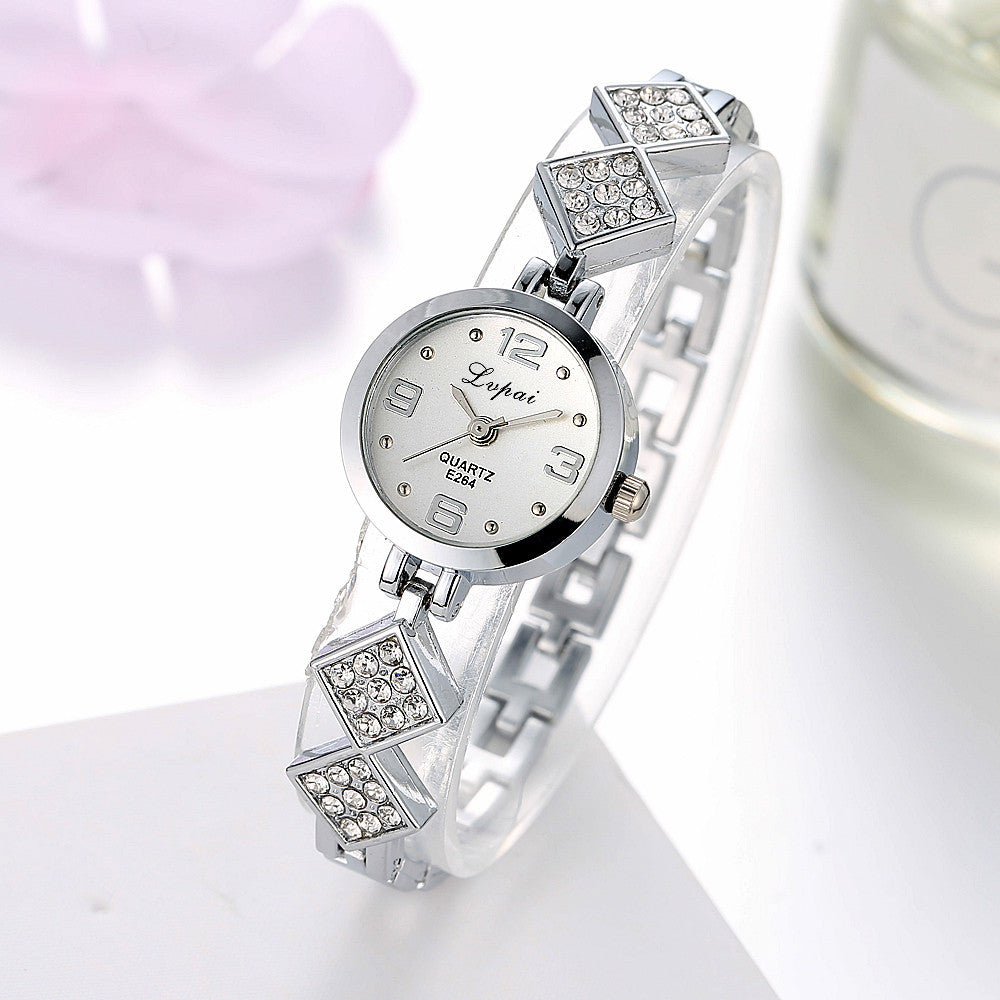Ladies Unisex Stainless Steel  Rhinestone Quartz Wrist Watch - Bara Jan Store