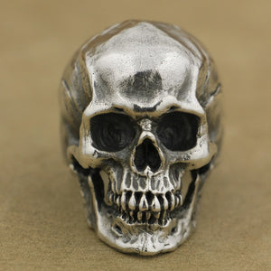 925 Sterling Silver High Detail Skull Ring Mens Biker Punk Ring TA50 US Size 7~15