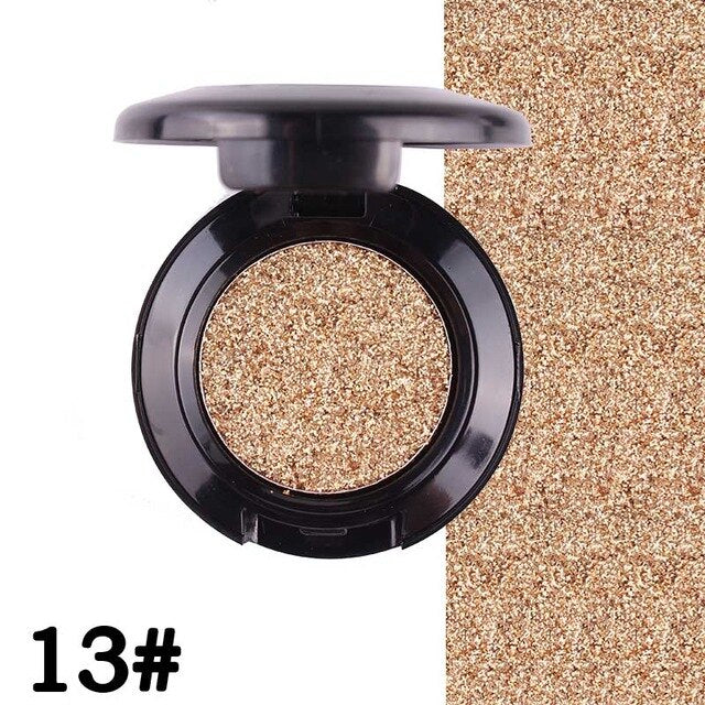 New MISS ROSE Brand Glitter Eyes Eyeshadow Palette Single Color Shining Metallic Shimmer Pigments Eye Shadow Waterproof Make Up