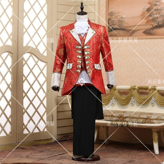 European prom wedding groom formal dresses costume stage show red singer star